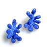 Aisegul Telli, 9 branch small blue earrings, Thereza Pedrosa gallery, Asolo