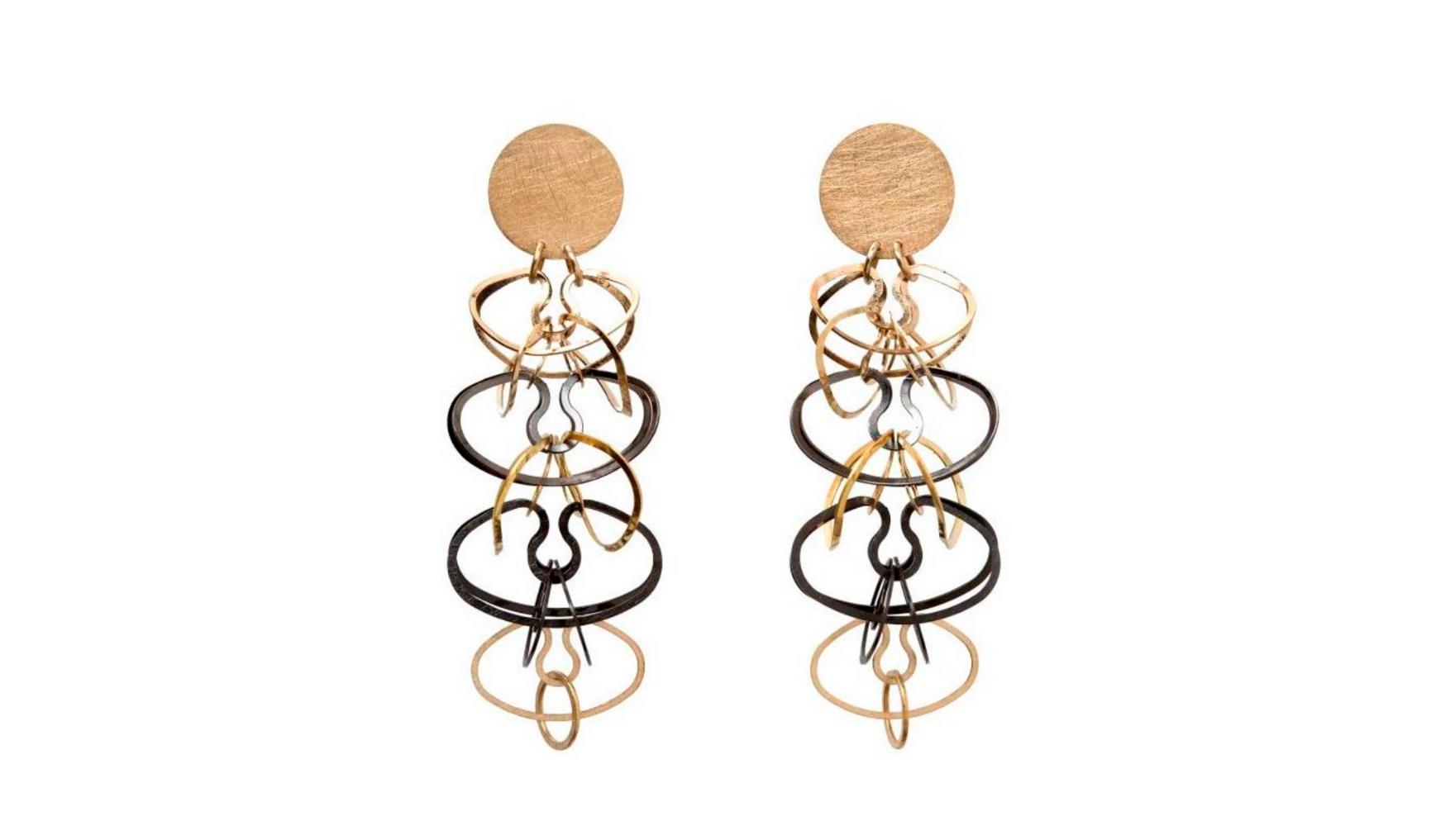 Carla Riccoboni, Alphabet earrings, Thereza Pedrosa gallery, Asolo