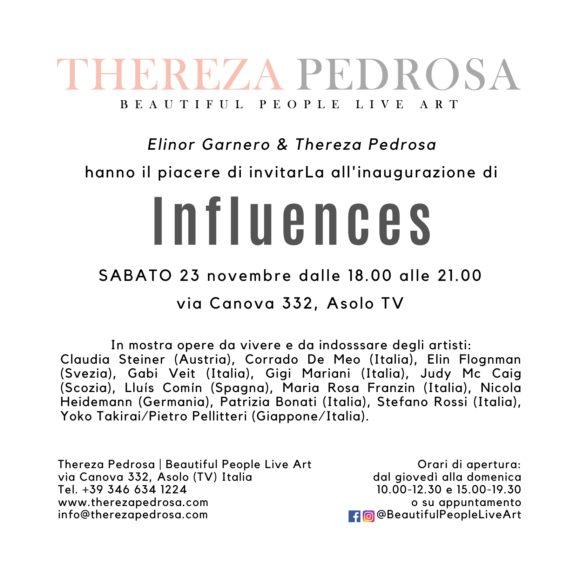 Influences, collective exhibition, Thereza Pedrosa gallery, Asolo